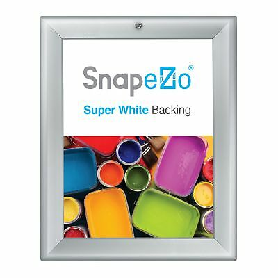 Silver locking snap frame poster size 8.5X11 - 1.25 inch profile