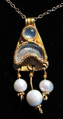 Greek Gold Pendant with Pearls - Ancient Art & Antiquities