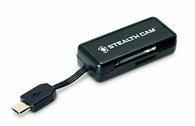 Stealth Cam Micro USB OTG Memory Card Reader for Android Devices, Black New