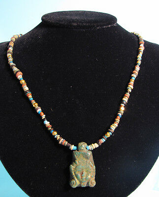 Egyptian Faience Bead Necklace - Ancient Art & Antiquities
