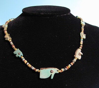Egyptian Wedjat Eye Necklace - Ancient Art & Antiquities
