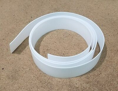 "PTFE Virgin Tef lon strip, 1/32"" (0.032"")  thick, 1"" x 48"" Free Ship USA!"