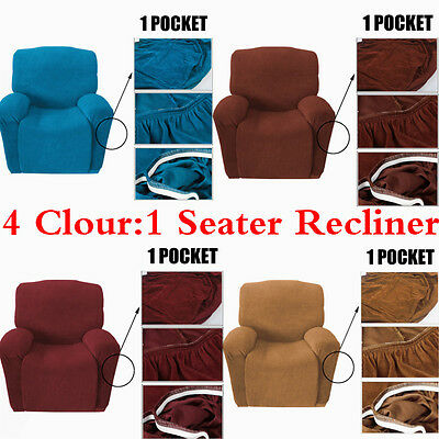 Easy Stretch Sofa Couch Cover Recliner Protector Slipcover 1 Seater More Softer