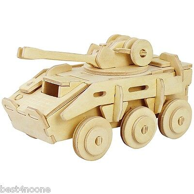 Robotime Armoured Vehicle 3D Wooden Puzzle Environmental Assemble Toy Educationa