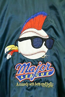 Major League Movie Vtg 1989 Promotional Satin Jacket -Men's XL -Charlie Sheen