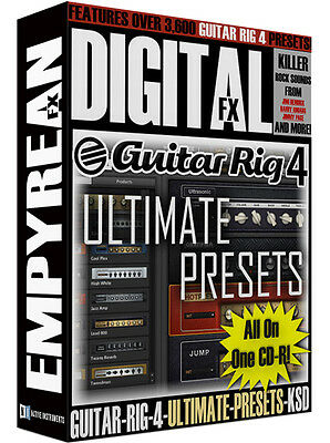 Native Instruments Guitar Rig 4 ULTIMATE PRESETS Amp Tone Artist Effects Sounds