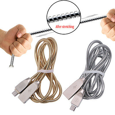 Stainless Steel Micro Zinc Alloy Metal Android Phone Data Cable Charging Cable