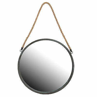 Round Nautical Port Hole Rope Bathroom Shaving Cosmetic Wall Mirror Large 40cm