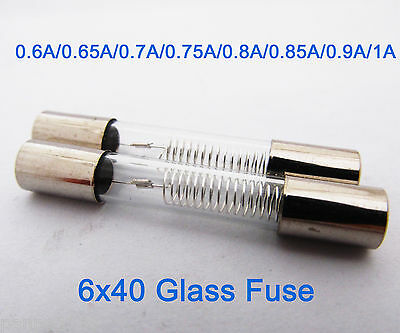 2pcs High Voltage 5KV 5000V 6 x 40mm Glass Tube Fuse for Microwave Oven