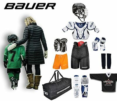 Eishockey Starter Set Bauer 10-teilig Junior- Kinder