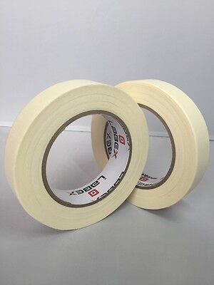 2 Rolls Labex High Quality Low Tack Multi-Purpose Masking Tape 25mm x 50m 1""