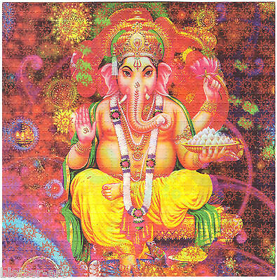 Psychedelic Ganesh 1 Blotter Art By Monkey