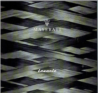 Maserati Levante 2017 Brochure 44 pages 210mm x 220mm CLEARANCE