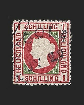 Vintage:heligoland-German 1873 Usd Lhr  Scott #11 $425 Lot #1873W16