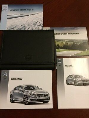 VOLVO S60 HANDBOOK + ROAD TRAFFIC + QUICK GUIDE + WALLET years 2011    2015