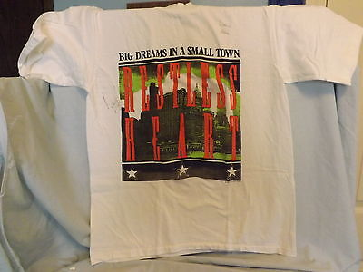 Brockum 1989 Restless Heart Album Big Dreams In A Small Town Large White Tshirt