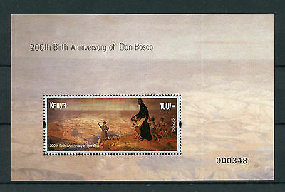 Kenya 2015 MNH Don Bosco 200th Birth Anniversary 1v M/S Art Paintings Stamps