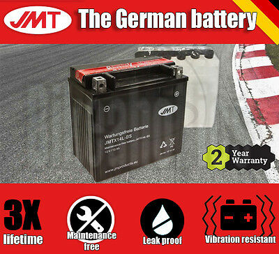 JMT Maintenance free battery- Harley XL 1200 X Sportster Forty Eight - 2011