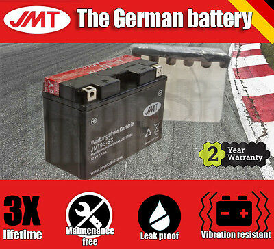 Premium JMT Maintenance free battery - YT9B-BS- Yamaha YFM 700 RW - 2007