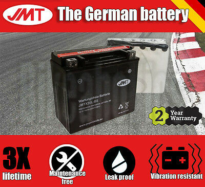 JMT Maintenance free battery- Harley FXDC 1584 Dyna Super Glide Custom - 2011