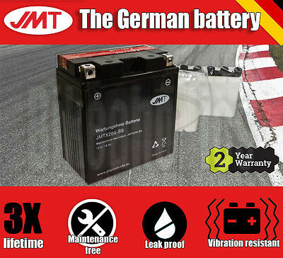 Premium JMT Maintenance free battery - YTX20A-BS