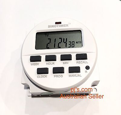 Digital Display Programmable Timer Switch For Solar, Pumps Etc 12v 16A - 240Vac