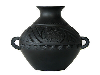 Chinese Black Terra Cotta Pottery – Pot With Handles