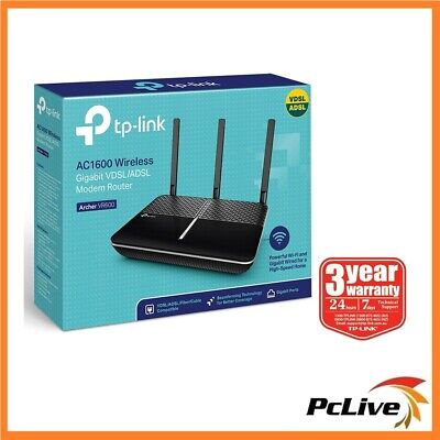 TP-Link Archer VR600 AC 1600 Wireless Dual Band VDSL ADSL NBN Modem Router