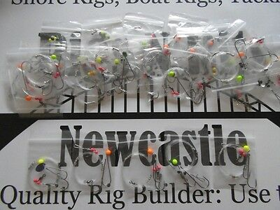 25 Sea Fishing Rigs - Clipped Pulley Pennels - Strong Quality Winter Shore Rigs