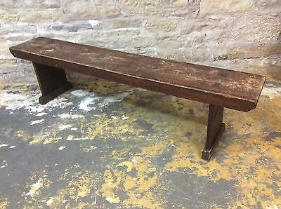 Vintage Victorian? School-Church Solid Pine  Bench Seat Micro Pub Bar Shop Etc