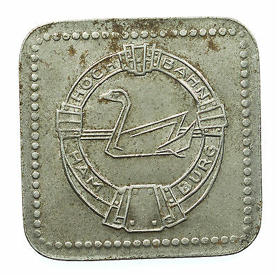 Token, Hoch Bahn Hamburg, 20 Pfennig, Transport, Germany, Deutschland, C. 1920