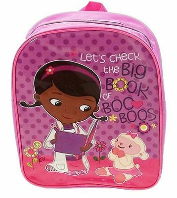 Disney DOC MCSTUFFIN Backpack McStuffins School Rucksack Kids Junior Bag Pink