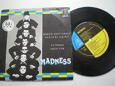 MADNESS Barco Nocturno + 3 SPAIN STIFF EP 1980 Ska SPANISH TITLES