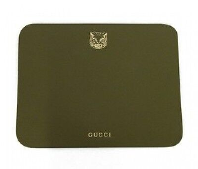 GUCCI Tiger print leather mouse pad Very rare!! Novelty With Tracking F/S NEW