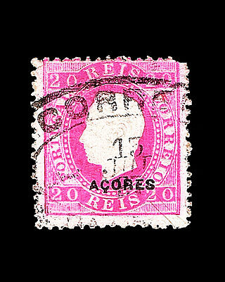 Vintage:azores-Portugal1882 Usd Lhr  Scott #49 $125 Lot #1882X63