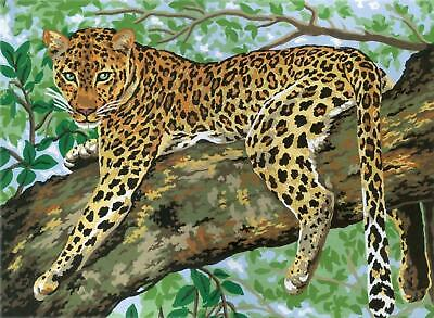 Grafitec Printed Tapestry/Needlepoint Canvas – Lazing Leopard