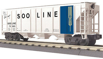 MTH Electric Trains PS-2 Center-Discharge 3-Bay Covered Hopper - 3-Rail - Ready