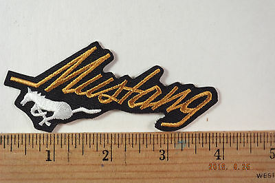 Ford Mustang Patch  Iron-On Embroidered Patch