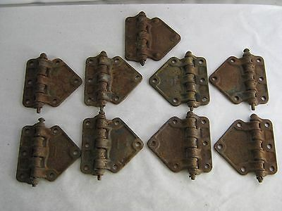 (9) Large Antique Cast Iron Industrial Hinges Railroad/Boxcar Northwestern RR