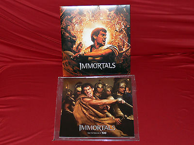 Rare IMMORTALS movie PRESSBOOK with CD and slipcase! From the creators of 300 !