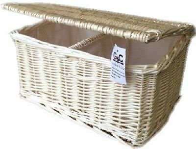 Wicker Honeycroft Light Nappy Stacker French Farmhouse Traditional Basket Gift