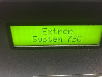 Extron, System 7SC, Input Switch Video Switcher Scaler