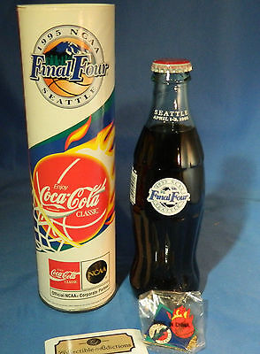 Coca-Cola - 1995 Commemorative Bottle For Ncaa Finals In Seattle With Case