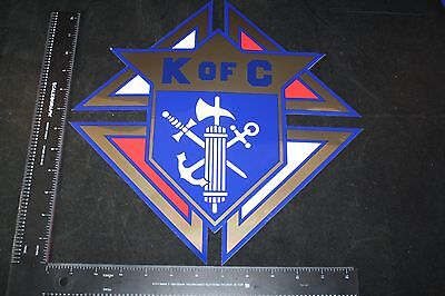 """Vintage Knights Of Columbus Decal Emblem Large 13"""" Free Shipping Sign K Of C No"""