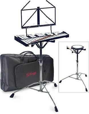 Stagg Bell-Set 32 Percussion Set (Metallophone/Practice Pad/Stand), with bag - N