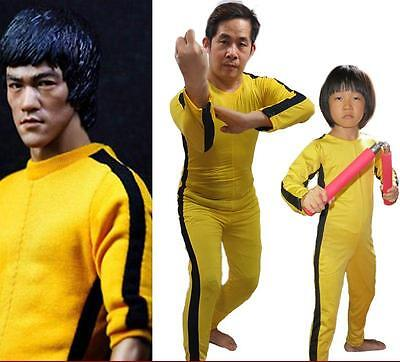 2016 Brand New Bruce Lee Yellow Jumpsuits For Adults Children Cosplay Wear 1pc