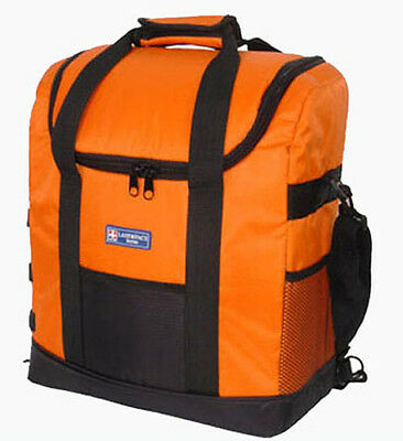 orange insulated cooler bag backpack lunch portable beer wine 35L picnic travel