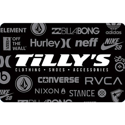 Tilly's Gift Card - $25 $50 or $100 - Email delivery