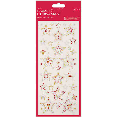 Papermania Create Christmas Glitter Dot Stickers Stars PM818930