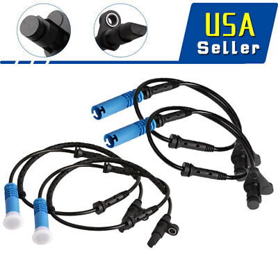 4 PCS For BMW E39 525 528i 540i ABS Wheel Speed Sensor Front Rear Left & Right